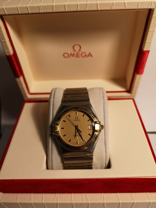 Omega -  Constellation goud-staal - Men - 2002