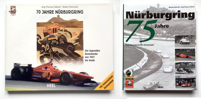 Nürburgring 70 + 75 Years, signed John Surtees - Boek