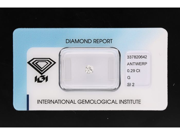 1 pcs Diamond - 0.29 ct - Briliant - G - SI2