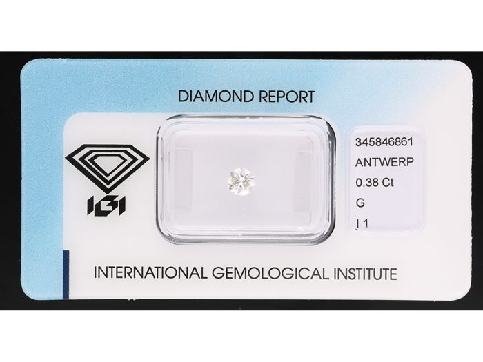 1 pcs Diamond - 0.38 ct - Briliant - G - I1
