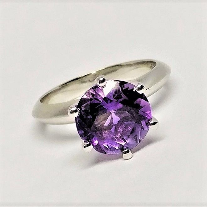 18 kt. White gold - Ring - 3.46 ct Amethyst