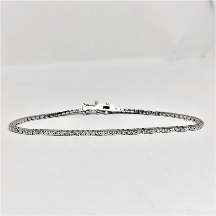 18 carats Or blanc - Bracelet - 1.83 ct Diamant