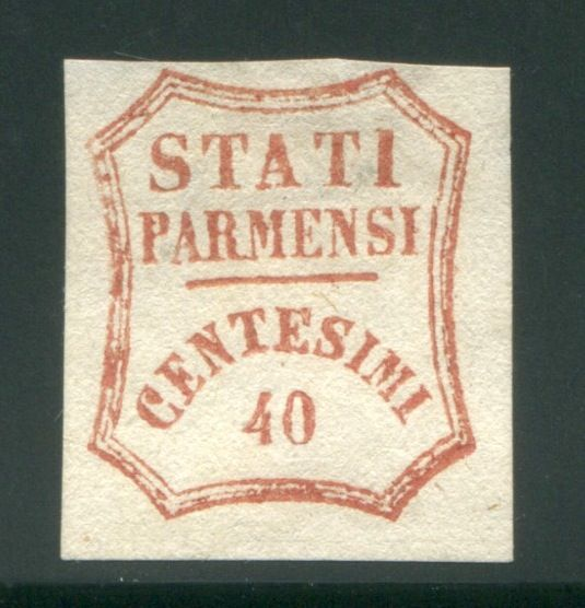 Parma 1859 - 40 cents brown red Provisional Government - Sassone N. 16