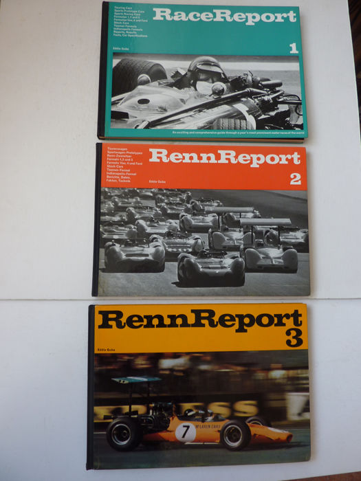 Books - Eddie Guba - Renn Report 1 , 2 & 3 - 1968-1970 (3 items)