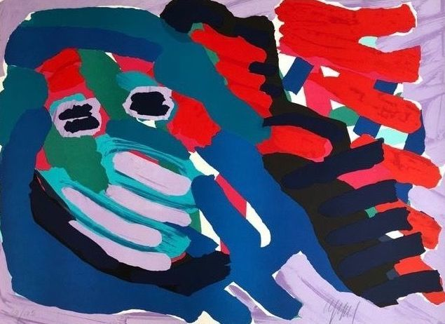 Karel Appel - Another Blue Head Again