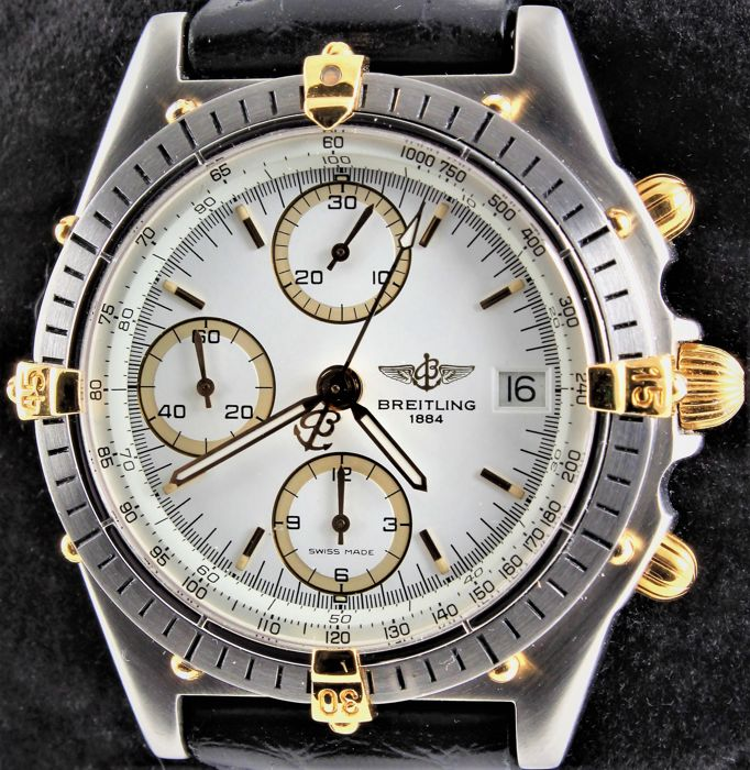 Breitling - CHRONOMAT - Gold/Steel Chronograph - Automatic - Ref. No: B13047 - Excellent - Warranty - Heren - 2000-2010