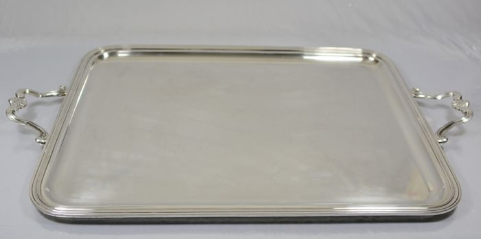 Christofle, Large Silver Metal Tray, Early Twentieth - Silverplate - France - 1900-1949