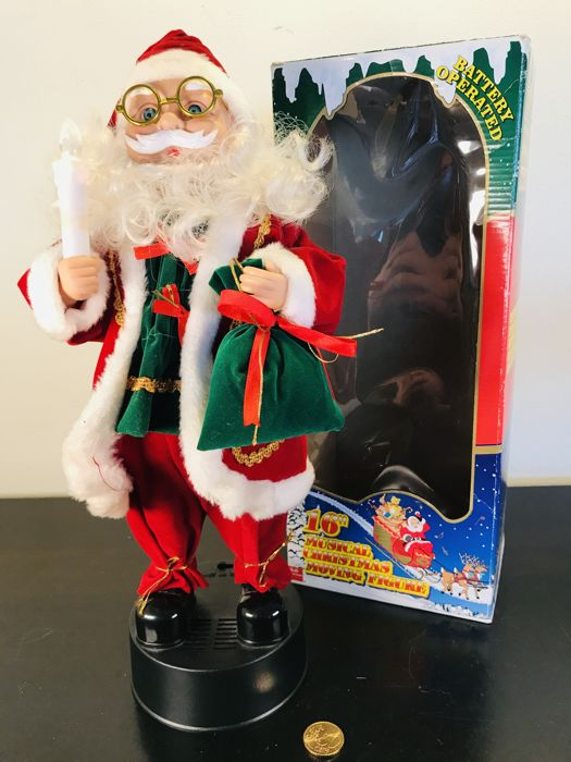 Gorgeous moving Santa Claus with music - Plastic, Textiles, Wood
