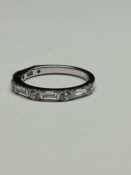 bague or blanc taille 47