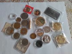 1 gram gold certified 999/1000  +     +  a lot of coin and bullion  gold plated