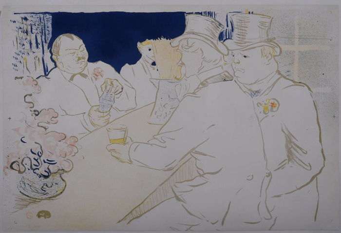 Toulouse Lautrec - Irish and American Bar, Rue Royale - The Chap Book - Ursprüngliche Lithographie 1895