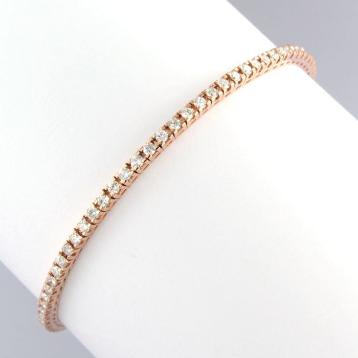 Bracelet - Or rose - 1.1 ct - Diamant