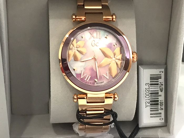"Guess - "" NO RESERVE PRICE "" Y21002L3 Precious Collection - IP Rose Gold Floral Pattern - Swiss Made - Nuovo - Garanzia - Dames - 2011-heden"