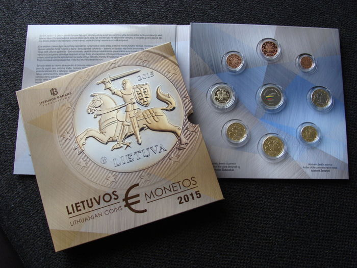 Lithuania - Euro Jaarset 2015 (Proof) in blister, oplage 7.000 stuks