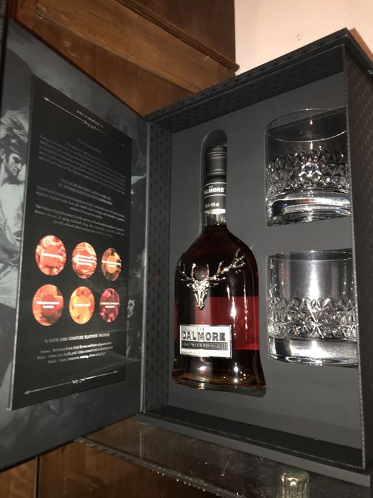 Dalmore King Alexander III - gift pack with 2 glasses - Original bottling - 70cl