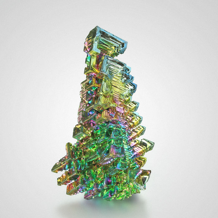Bismuth Christams Tree Specimen - 5×3×2.2 cm - 37 g