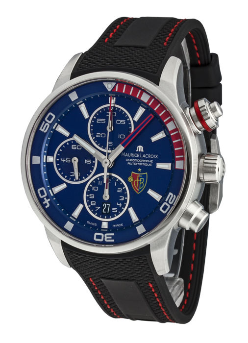Maurice Lacroix - Pontos Chronograph -FC Basel- - PT6008-SS001-432-1 - Heren - 2011-heden