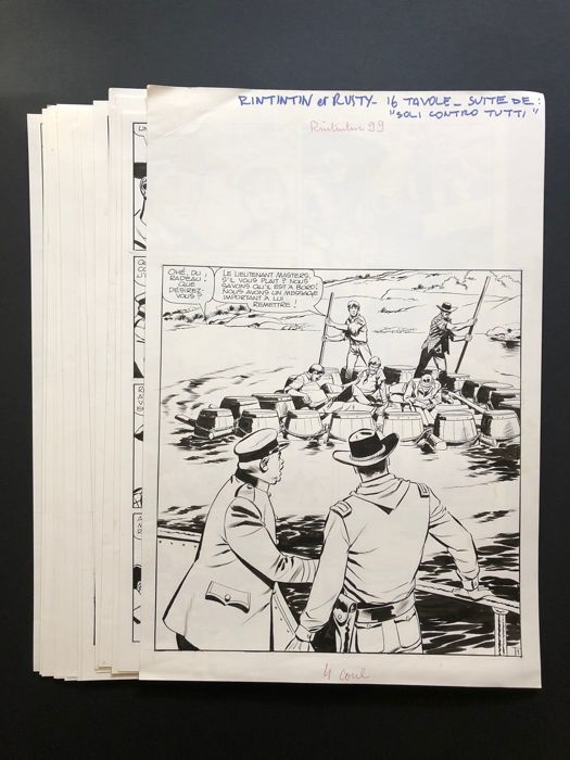 """Rin Tin Tin e Rusty #99 - """"Seuls contre tous"""" cpl story - First edition - (1968)"""