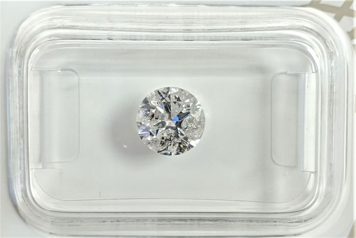 Diamond - 0.95 ct - Brilliant - D (colourless) - I2, No Reserve Price