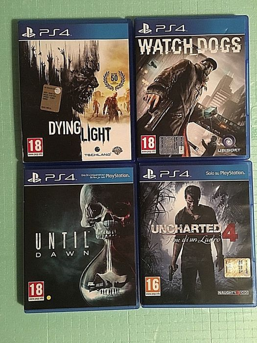 PS4 - Uncharted 4 | Until Dawn | Dying Light | Watch Dog - In