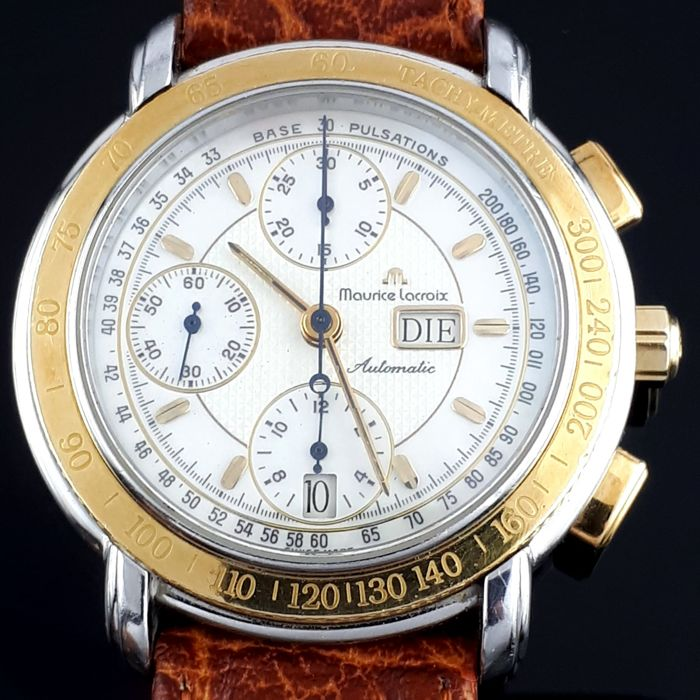 Maurice Lacroix - Masterpiece Chronograph Day Date Gold /steel - Ref. 67587 - Heren - 2000-2010