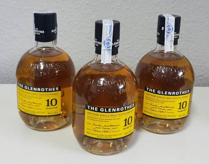 Glenrothes 10 years old - 700ml - 3 bottles