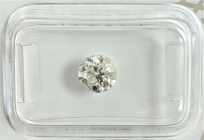 Diamond - 0.91 ct - Brilliant - I - I2, No Reserve Price