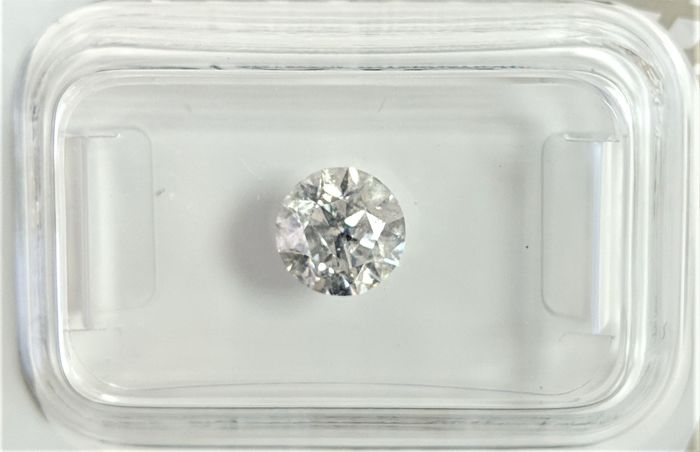 Diamond - 0.9 ct - Brilliant - G - I1, No Reserve Price