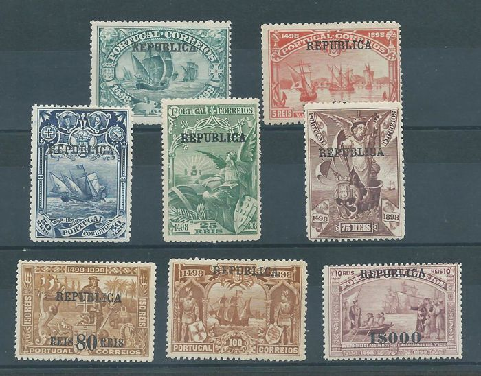 Portugal 1911/1912 - Republic over stamps from Madeira - Mundifil 198/205
