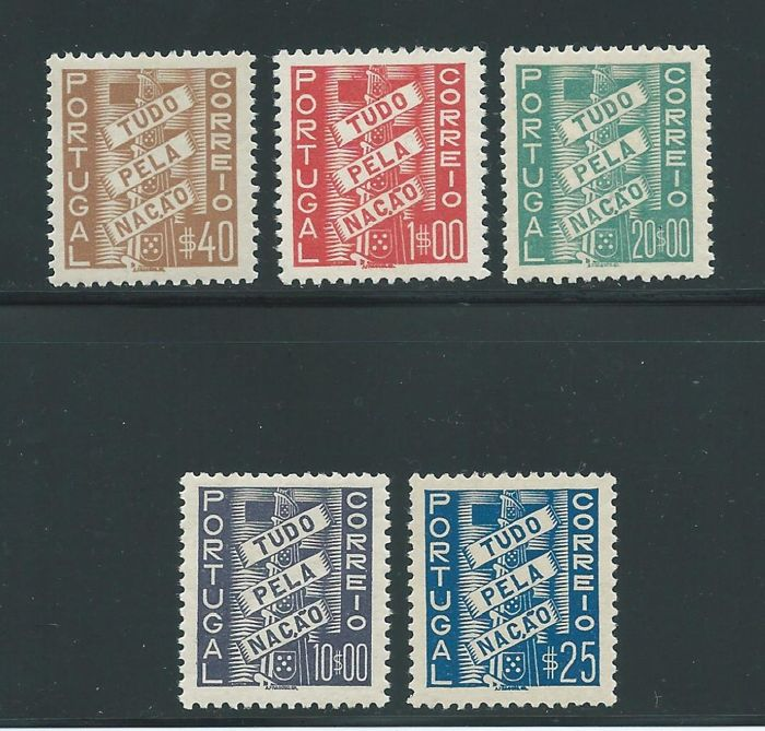 Portugal 1935/1941 - 'Todo por la Patria' (Everything for the homeland) - Mundifil 570/574