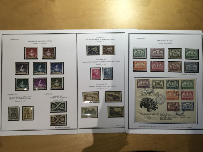 Portugal 1952/1953 - Batch of complete sets plus one letter