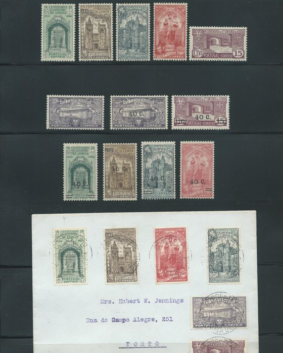 Portugal 1931/1933 - Centennial of the death of San Antonio. Set with - Mundifil 531/536, 554/559
