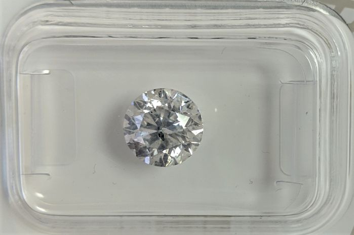 Diamant - 1.57 ct - Briljant - D (kleurloos) - No Reserve Price, SI3