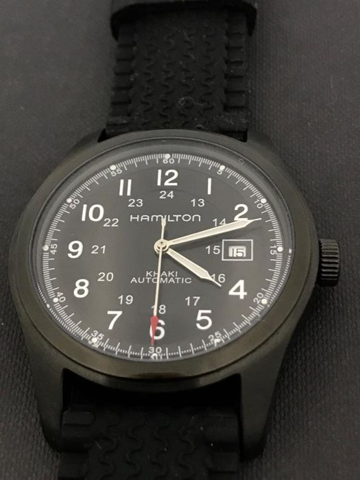 "Hamilton - Khaki Military Field Custom Black PVD Case - ""NO RESERVE PRICE""  - H705450 - Men - 2011-present"
