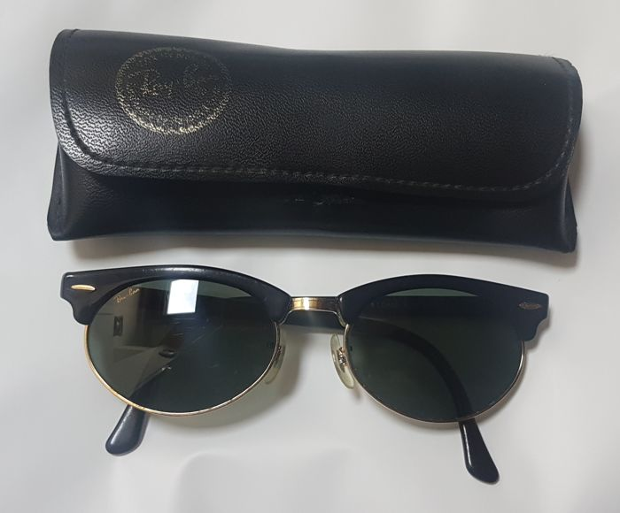 bc78d287511b Bausch and Lomb Ray Ban USA - Clubmaster Oval Black - Catawiki