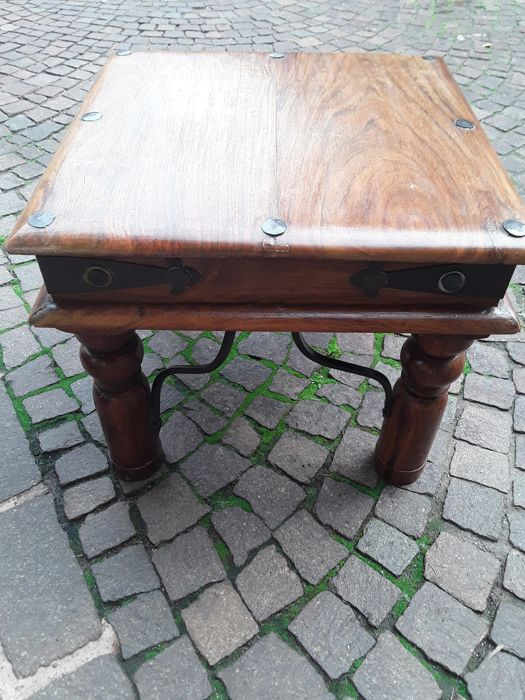 New solid wood side table - Wood - Indonesia - 1980