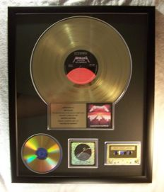 Metallica - Master Of Puppets - Officiel In-House award - 1986/1986