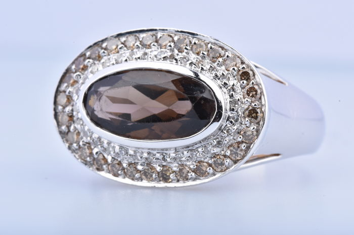 18 karaat Goud - Ring - 0.40 ct Diamant
