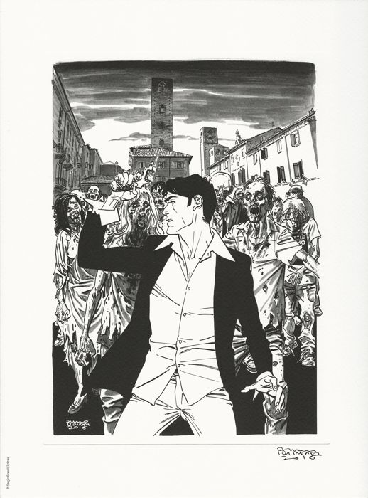 Dylan Dog - Bruno Brindisi - lito firmata - First edition - (2016)