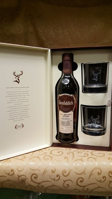 Glenfiddich Malt Masters Edition - Luxury Giftset with glasses - 0.7 Ltr