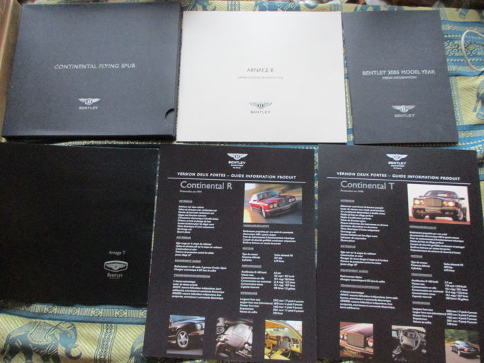 Brochures / catalogues - Bentley - 2001-2005 (6 items)