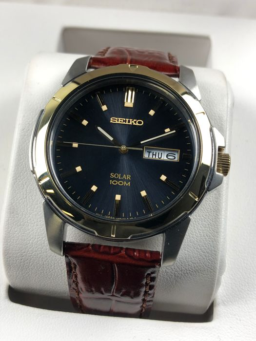 Seiko - 'NO RESERVE PRICE' Solar Day Date - SNE102P9 - Men - 2011-present
