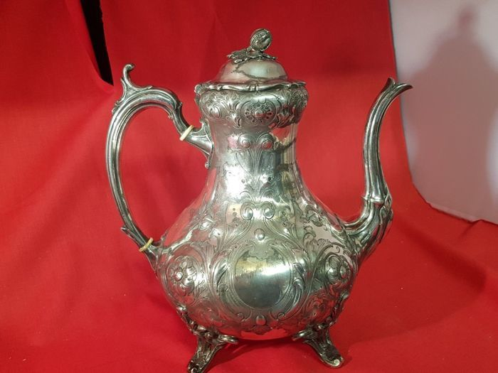 Teapot - Silverplate - Shaw & Fisher of Sheffield - U.K. - 1850-1899