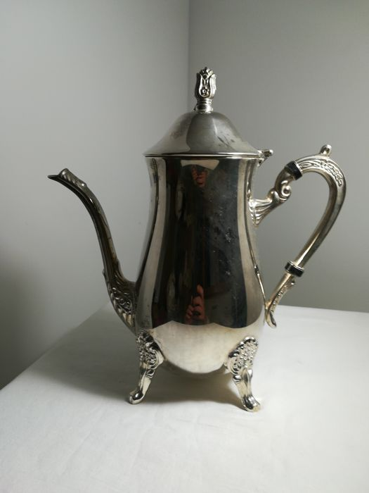 Large Teapot in Silver Plated - 1 - .1000 silver - Italy - 1950-1999