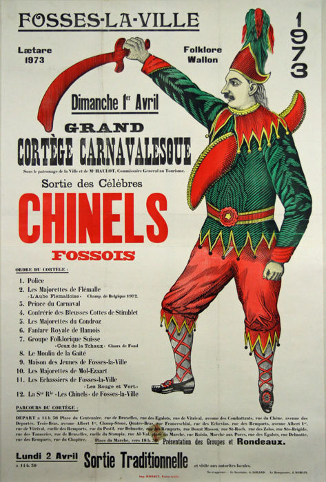 Anonyme - Grand cortège carnavalesque - Chinels fossois - Folklore Wallon - 1973