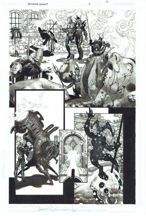 """Seven Soldier  - Simone Bianchi """" Shining Knight """" - First edition (2005)"""