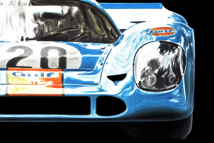 2 HAND-SIGNED by Artist Art Prints - Porsche 917 Le Mans 1970 - 2019