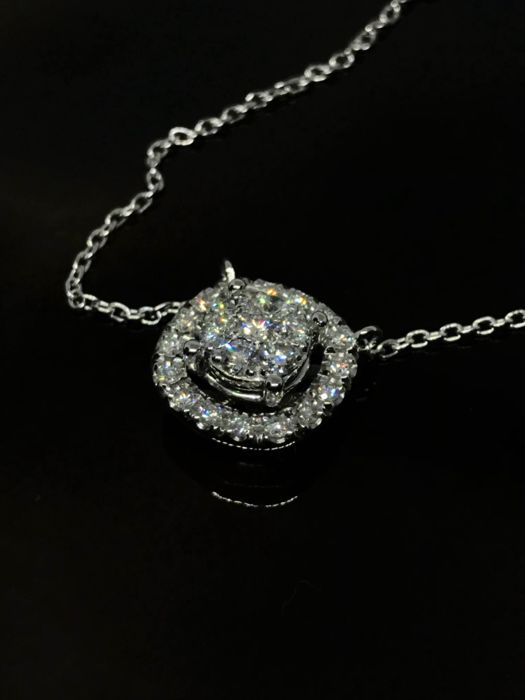 18 kt. Gold - Necklace with pendant - 0.26 ct Diamond - Diamond