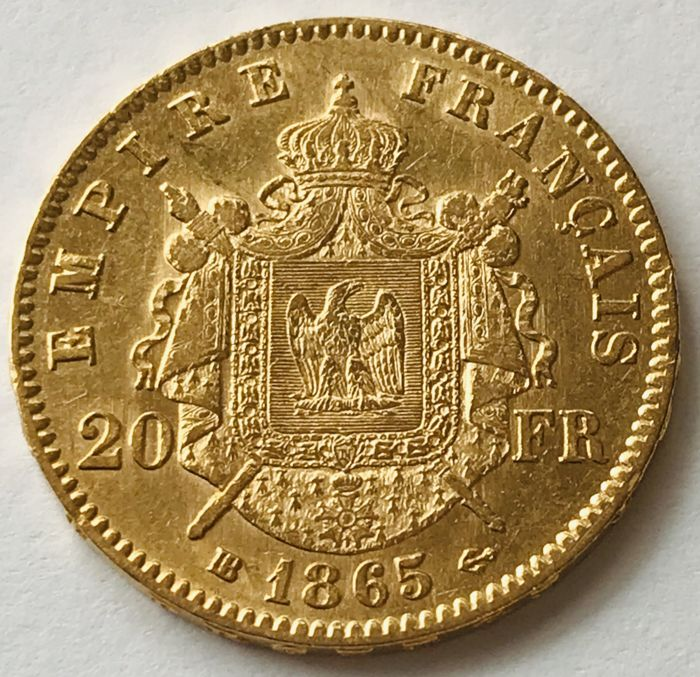 20 Francs 1865 BB - Napoleon III. - Or