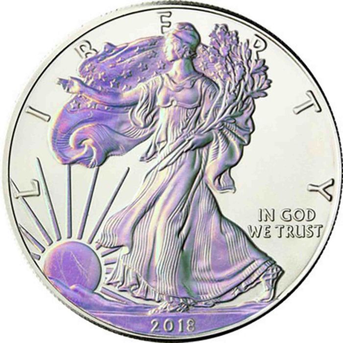 États-Unis - 1 Dollar 2018 Silver Eagle with Hologramm - 1 Oz - Argent